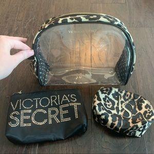 Set of Victoria's Secret Makeup Bags